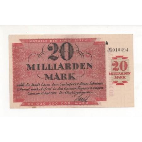 NOTGELD - ESSEN - 20 milliarden mark (E063)