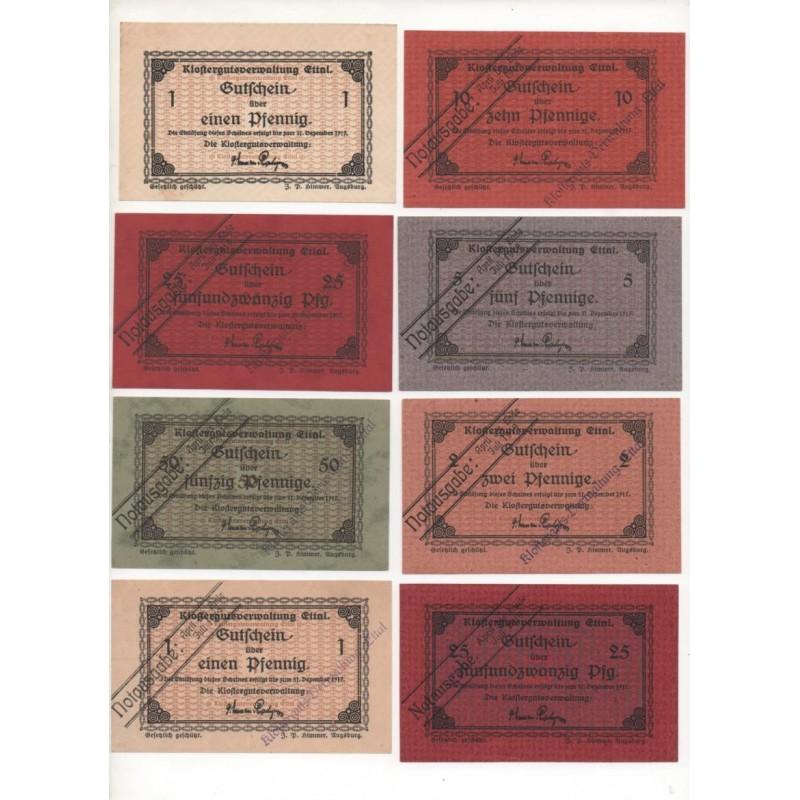 NOTGELD - ETTAL - 16 different notes (E076)