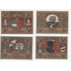 NOTGELD - ETTENHEIM - 13 different notes 50 pfennig (E077)