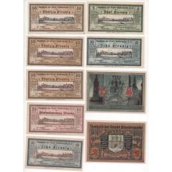 NOTGELD - FINSTERNALDE - 11 different notes (F005)