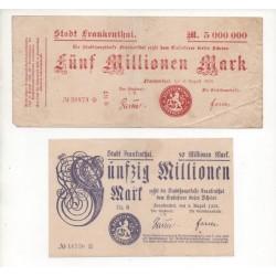 NOTGELD - FRANKENTHAL - 2 different notes - 1923 (F014)