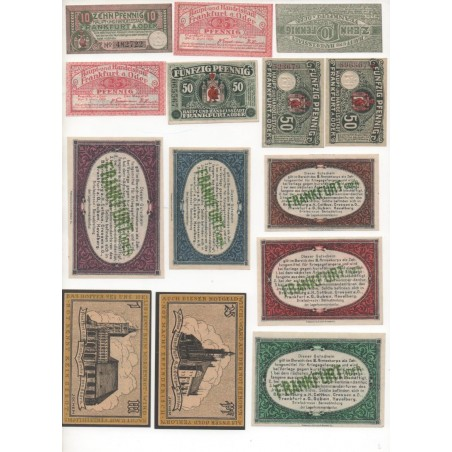 NOTGELD - FRANKFURT - 20 different notes - 1917-1918 (F020)