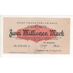NOTGELD - FRANKFURT - 2 millionen mark (F025)