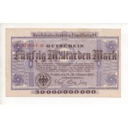 NOTGELD - FRANKFURT - 50 milliarden mark - 1923 (F033)