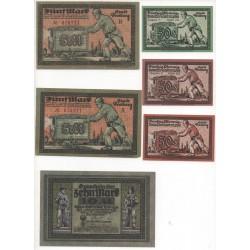 NOTGELD - FREIBERG - 15 different notes - 1921 (F044)