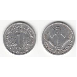 Moderne France 1 Franc 1944 Petit c P/SUP
