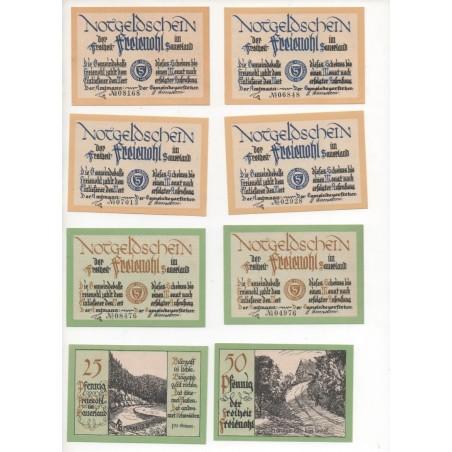 NOTGELD - FREIENOLH - 16 different notes - SERIE COMPLETE (F058)