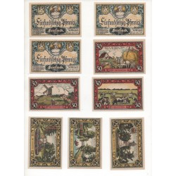 NOTGELD - FRIESACK - 9 different notes - SERIE COMPLETE (F062)
