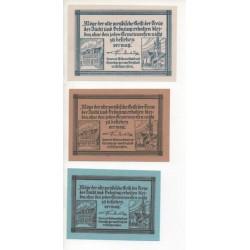NOTGELD - FREYSTADT - 3 different notes 10 & 25 & 50 pfennig (F067)