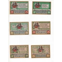 NOTGELD - FRUCHT - 6 different notes - 25 & 50 & 75 pfennig (F070)