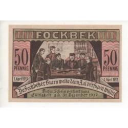 NOTGELD - FOCKBEK - 50 pfennig - 1917 (F071)