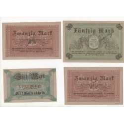 NOTGELD - FURSTENWALDE - 8 different notes 5 & 20 & 50 mark (F080)