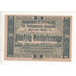 NOTGELD - GAGGENAU - 50 GOLDPFENNIG - RARE (G003)