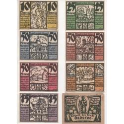 NOTGELD - GEBESEE - 7 different notes + enveloppe (G008)
