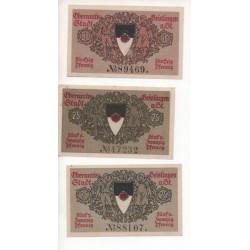 NOTGELD - GEISLINGEN - 3 different notes 25 & 50 pfennig (G013)