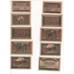NOTGELD - GERRODE - 14 different notes - Different color - 1921 (G026)