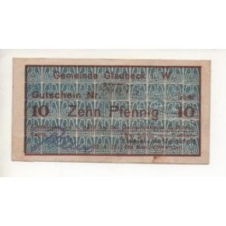 NOTGELD - GLADBECK - 10 pfennig - 1917 (G035)