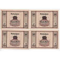 NOTGELD - GLATZER - 4 different notes - 1921 (G041)