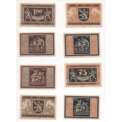 NOTGELD - GLATZER - 16 different notes - Serie COMPLETE - 1921 (G042)
