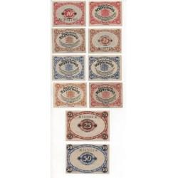 NOTGELD - GLAUCHAU - 10 different notes - 1920 (G043)