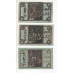 NOTGELD - GOLBBERG - 3 different notes - different colors - 1920 (G057)