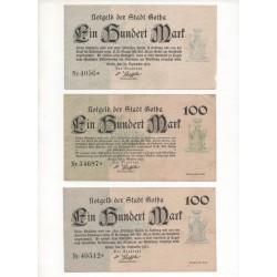 NOTGELD - GOTHA - 10 different notes - 1922 (G067)