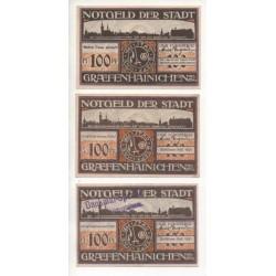 NOTGELD - GRAFFENHAINICHEN - 13 different notes (G075)