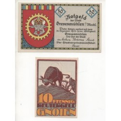 NOTGELD - GREVESMÜHLEN - 2 different notes (G092)
