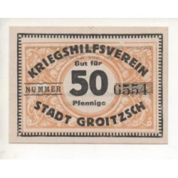 NOTGELD - GROITZSCH - 50 pfennig - RARE (G099)