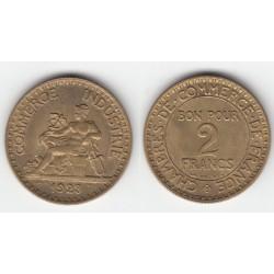 2 FRANCS CHAMBRE DE COMMERCE  1923   SUP   2F044