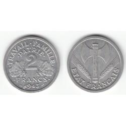2 FRANCS ETAT FRANCAIS 1943 SPL 2F055