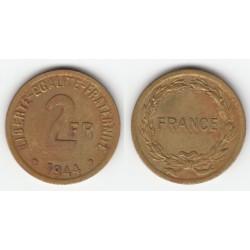 2 FRANCS FRANCE LIBRE 1944 TTB 2F056
