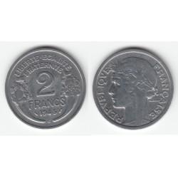 2 FRANCS MORLON ALUMINIUM 1945C TTB 2F057