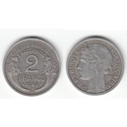 2 FRANCS MORLON ALUMINIUM 1945C TTB 2F058