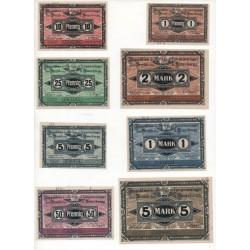 NOTGELD - HAVELBERG - 8 different notes - PRISONNIER - 1917 (H042)