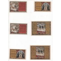 NOTGELD - HELMARSHAUSEN - 6 different notes (H055)