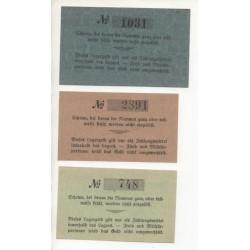 NOTGELD - HELMSTEDT - 3 different notes - PRISONNIERS (H056)