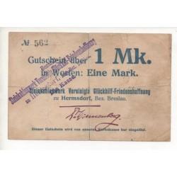 NOTGELD - HERMSDORF - 1 mark (H062)