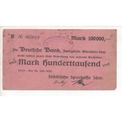 NOTGELD - IDAR - 100,000 mark - 1923 - SANS ETOILE (I002)