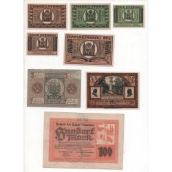 NOTGELD - ILMENAU - 15 different notes (I005)