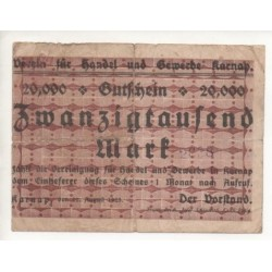 NOTGELD - KARNAP - 20,000 mark (K025)