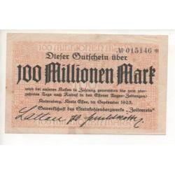 NOTGELD - KATERNBERG - 100 millionen mark (K028)