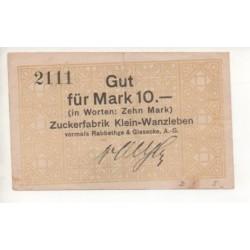 NOTGELD - KLEIN-WANZLEBEN - 10 mark (K051)