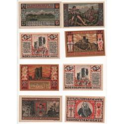 NOTGELD - KÖNIGSWINTER - 9 different notes - 3 SPECIMENS + 6 billets (K081)