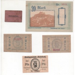 NOTGELD - KULMBACH - 5 different notes (K103)