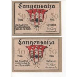 NOTGELD - LANGENSALZA - 2 different notes (L024)