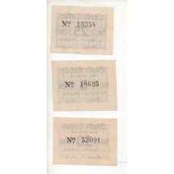 NOTGELD - LASSAN - 3 different notes (L029)