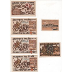 NOTGELD - LAUENBURG - 6 different notes (L032)