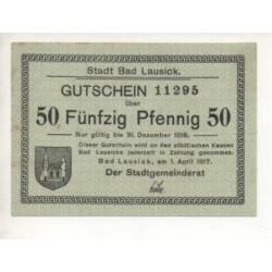NOTGELD - LAUSICK - 50 pfennig (L037)