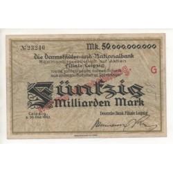NOTGELD - LEIPZIG - 50 milliarden mark (L042 A)